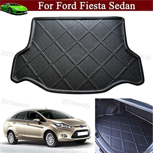 Car Boot Pad liner Cargo Mat Tray Trunk Floor Protector Mat For Ford Fiesta Sedan 2009 2010 2011 2012 2013 2014 2015 2016 2017 (Ford Fiesta Sedan)