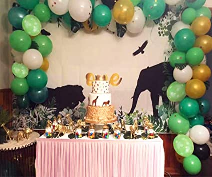 Amazon.com: Jungle Safari – 100 globos de látex, 24 hojas de ...