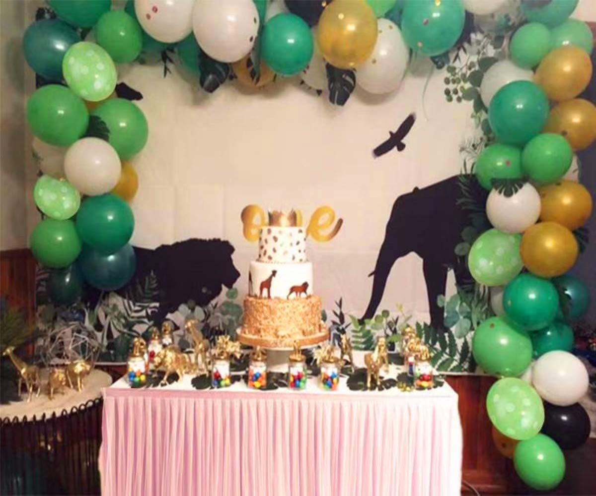 2020 New Jungle Safari Theme Party Supplies Balloons for Parties Christmas Party Birthday Balloons Decorations 110 PCS Balloon Garland Kit Favors for Kids Boys Birthday Baby Shower Decor