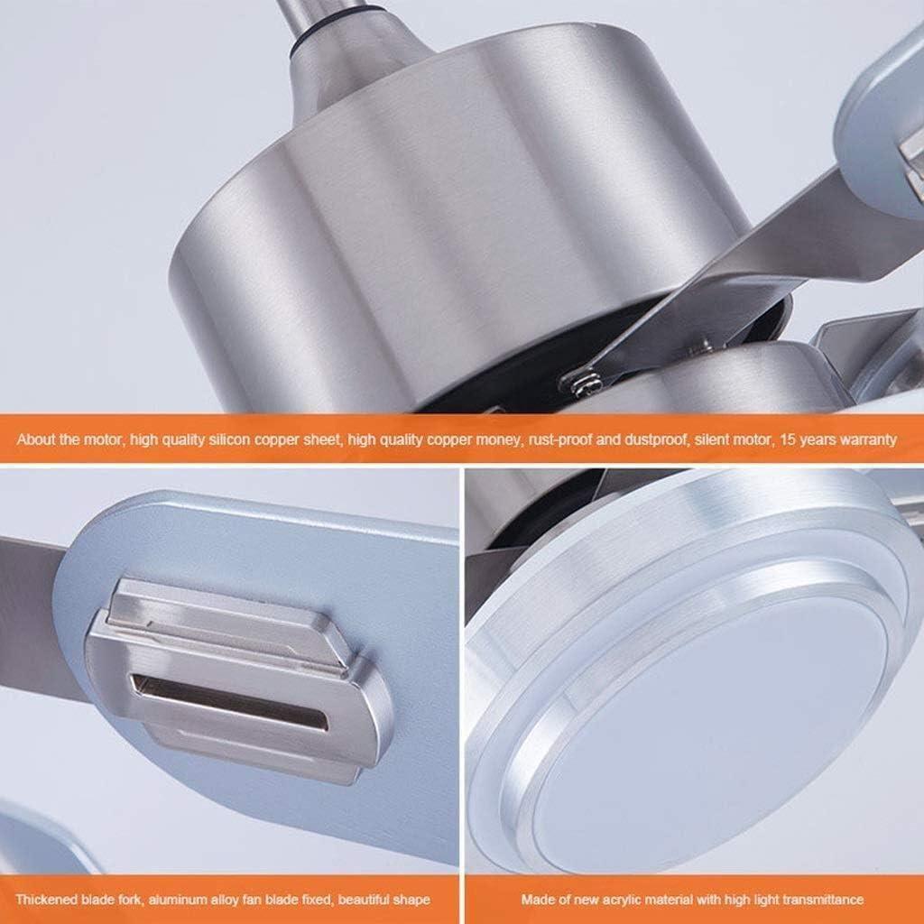 Techo simple LED Ventilador con luz lámpara casera Sala de estar ...