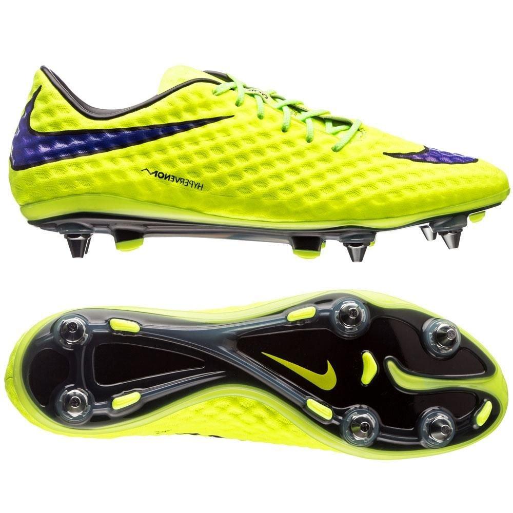 8e36d0c03 Nike Hypervenom Phantom SG-Pro Football Boots Volt Violet Black UK 7  rrp£170  Amazon.co.uk  Shoes   Bags