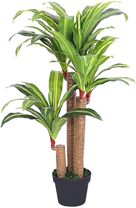 artplants Asparagus artificiel sur piquet Chute artificielle // Feuilles artificielles 22 tiges 60 cm