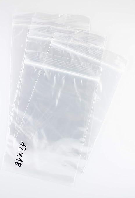 Bolsa de plastico autocierre 12 x 18 cm (100 Unidades)