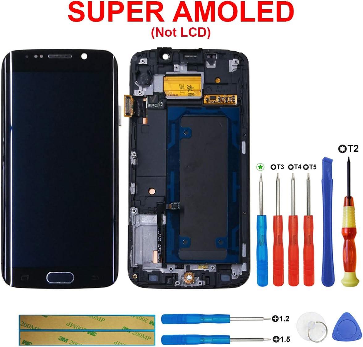 swark Super AMOLED Pantalla para Samsung Galaxy S6 Edge g925 F Touch Screen Marco Negro + Herramienta Opening Tools: Amazon.es: Electrónica
