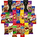 Healthy Nuts & Seeds Sampler Assortment Includes Wonderful Pistachios, Sahale, Planters Cashews, Emerald Almonds, Kars Assorted Trail Mix, Davids Sunflower Seeds & More Bulk Value (25 Count) from Snack Chest