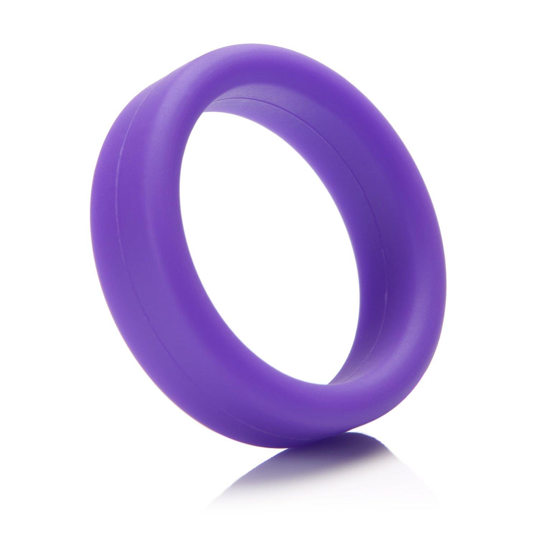 Tantus Super Soft C-Ring - Ultra-Premium Silicone Cock Ring - Purple