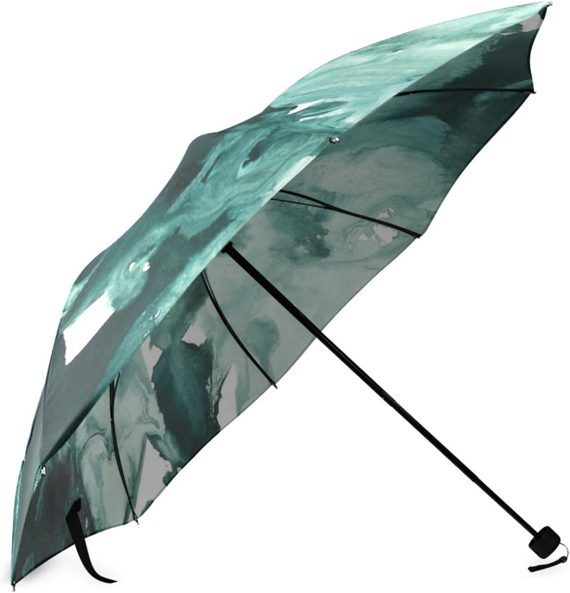Personalized Inkblot Marble Foldable Raining Umbrella