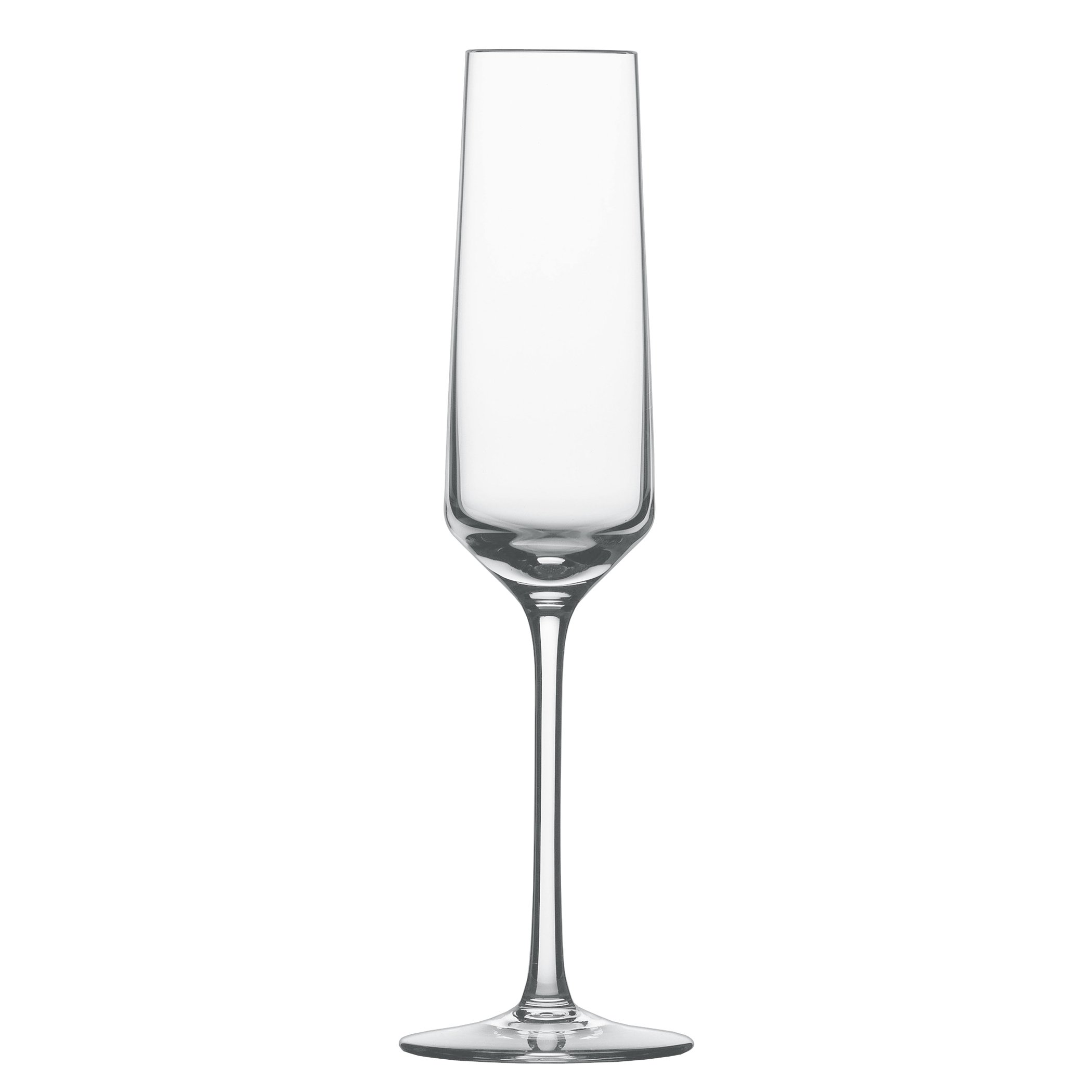 Schott Zwiesel Tritan Crystal Glass Pure Stemware Collection Champagne Flute with Effervescence Points, 7.1-Ounce, Set of 4