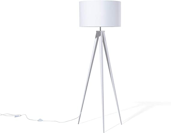 Lámpara de pie blanca STILETTO: Beliani: Amazon.es: Iluminación