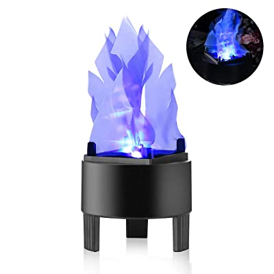 TOPCHANCES Flame Effect Light, 110V 3W 3D LED Artificial Fake Fire Flame Effect Light Campfire Centerpiece Flame Lightning Torch Light for Christmas Halloween Stage Indoor Decoration (Blue): Home Improvement