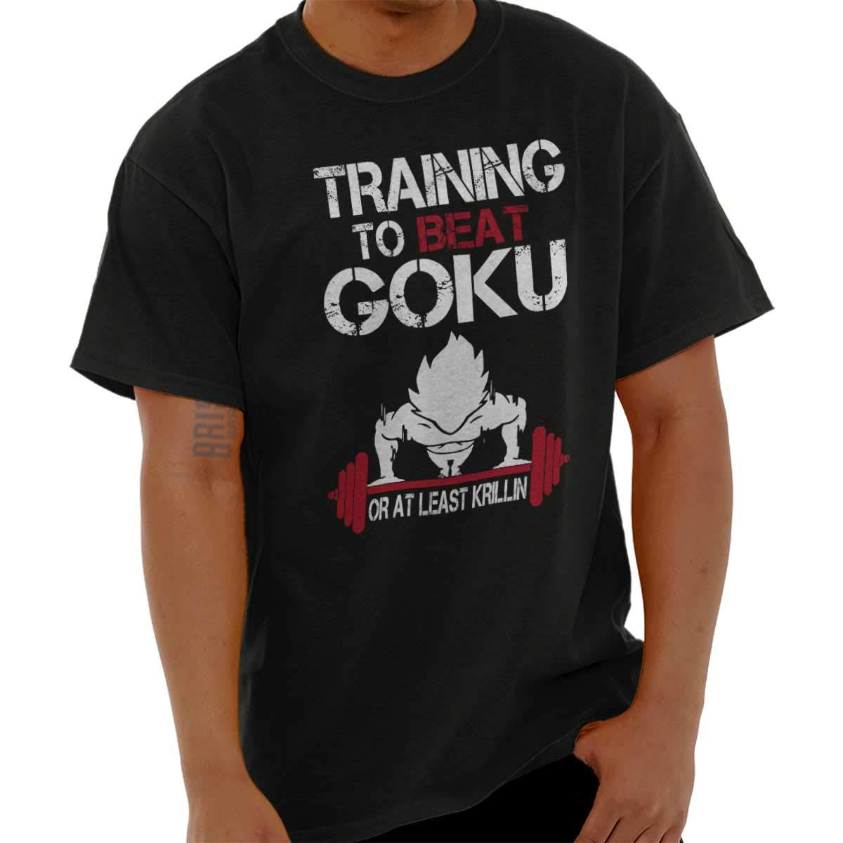 Brisco Brands Training Super Saiyan Goku Shirt Krillin Goku Z Buu Gift Gym T-Shirt Tee