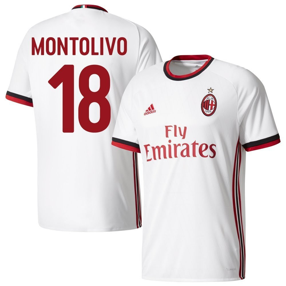 AC Mailand Away Trikot 2017 2018 + Montolivo 18 (Fan Style) - L