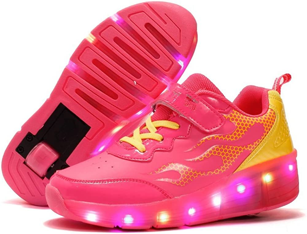 edv0d2v266 Kids Sneakers Fashion Charging Luminous Lighted Colorful LED Lights Children Shoes