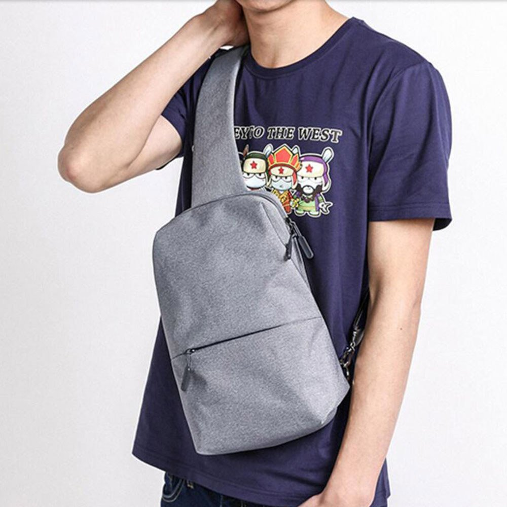 Xiaomi Sling Chest Bag Waterproof Sling Bag Urban Leisure Shoulder Bag Sport Backpack Unisex Rucksack ( Lightgray )