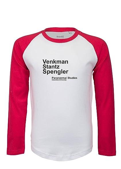 Venkman Stantz Spengler, Ghostbusters inspired, Kinder Langarm Baseball T- Shirt - Weiss &