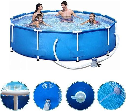 ZZQH Piscina automontable con depuradora, 366cm * 76 cm Piscina Desmontable Tubular Diversión Familiar de Agua en Verano para Niños y Adultos: Amazon.es: Hogar