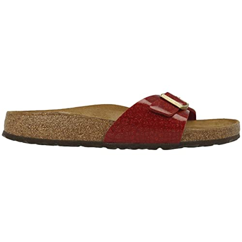 7556c4ebac59 Birkenstock Madrid Magic Snake Bordeaux Womens Slip On Mule Sandals: Amazon. co.uk: Shoes & Bags