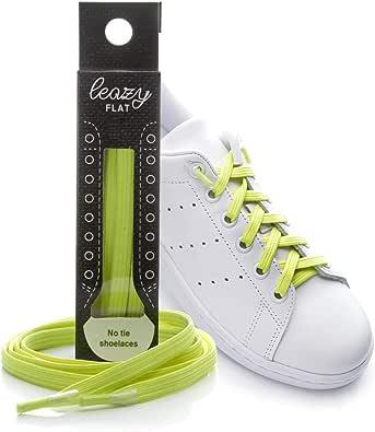 leazy Cordones Elásticos sin Nudo para Zapatillas - Anclaje Sencillo en las Puntas - Cordones sin Atar para Niños y Adultos