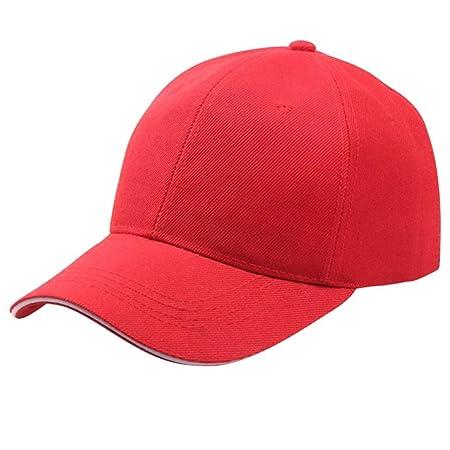Rawdah Mujeres Gorra de Béisbol Gorro de Snapback Hip-Hop Ajustable (Rojo)