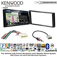 Volunteer Audio Kenwood DNX874S Double Din Radio Install Kit with GPS Navigation Apple CarPlay Android Auto Fits 2012-2014 Subaru Impreza
