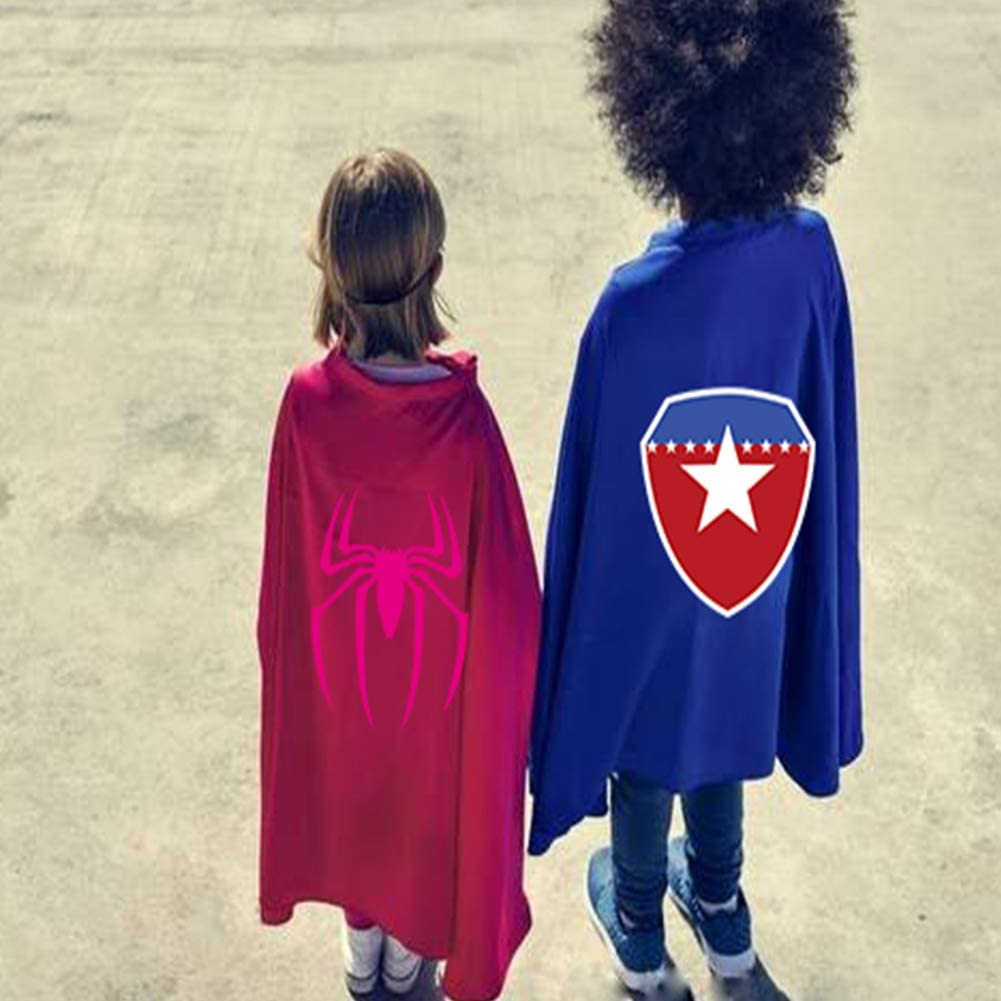 Childrens Cartoon Superhero Cloak Halloween Cape Toy boy Girl 3-10 Years Old Dress up Birthday Party Christmas Supplies