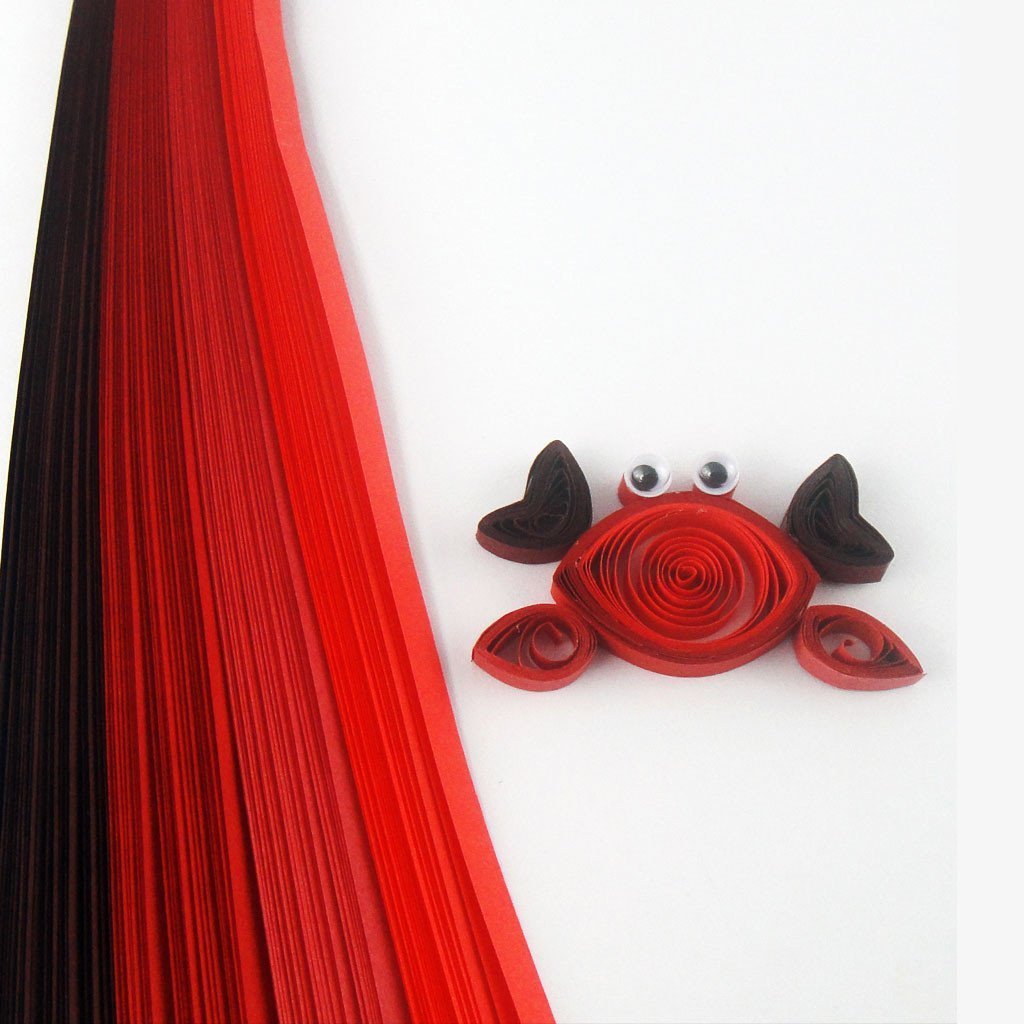 Tones of Red - 5 mm - 100 Quilling Strips