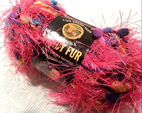 Skeins Lion Fancy Fur Yarn - Lion Brand Fancy Fur Eyelash Yarn - #295 Party Pink