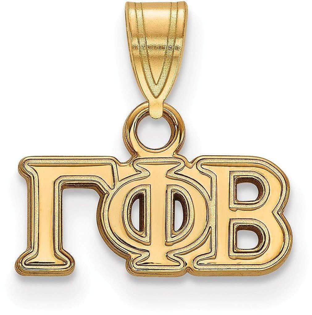 Gold-Plated Sterling Silver Gamma Phi Beta Small Pendant by LogoArt GP002GPB