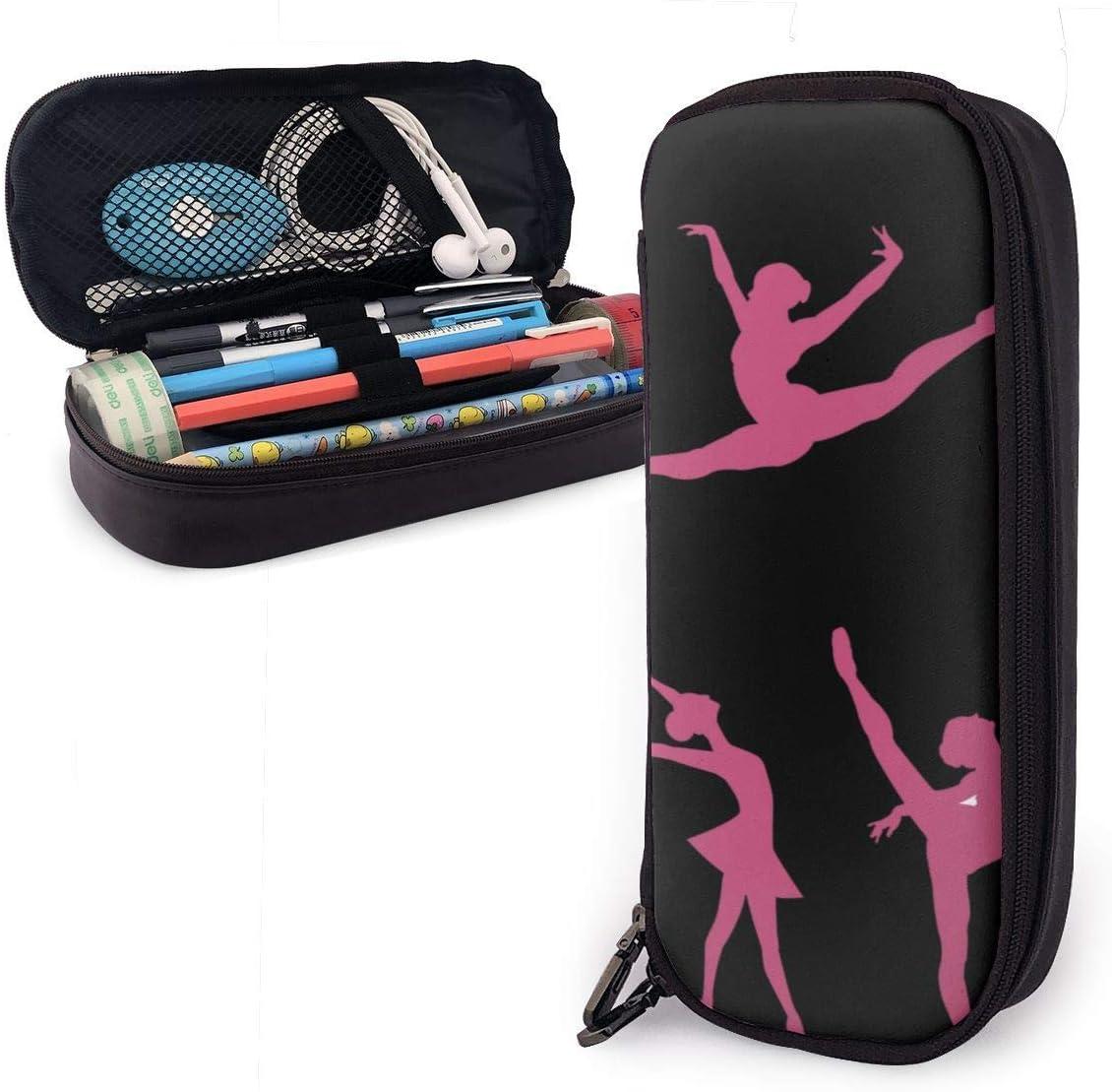 Estuche Escolar de Gran Capacidad, Bolsa de Lápiz Organizador para Material Papelería con Cremallera Doble Gimnasia bailarina rosa para Hombre Mujer Estudiante en Escuela Oficina