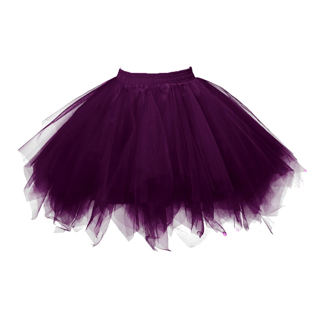 Dark Purple Topdress Women's 1950s Vintage Tutu Petticoat Ballet Bubble Skirt (26 colors)