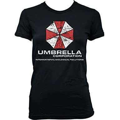 9138L Umbrella Corporation Womens T-Shirt Resident Evil Racoon City Stars Corp Sci-Fi Horror(X-SmallBlack): Amazon.es: Ropa y accesorios