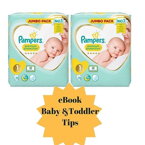 Pampers Pañal para bebé recién nacido, tamaño 1, protección premium ...