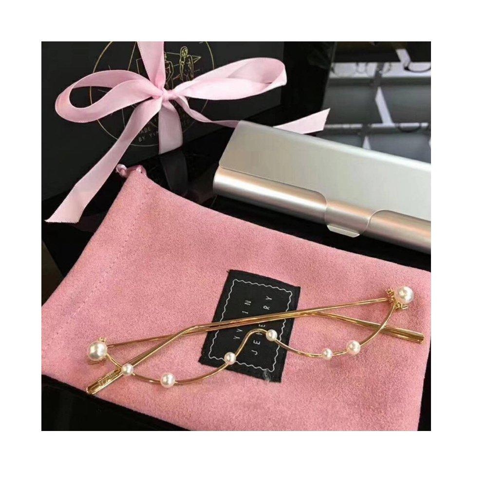 Amazon.com: Fashion Pearl half decorative glasses Non lens frame ...