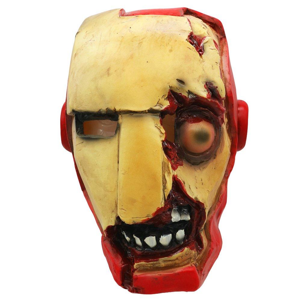 Lucky Lian Creepy Halloween Zombie Hero Mask Latex Helmet Cosplay Costume Prop