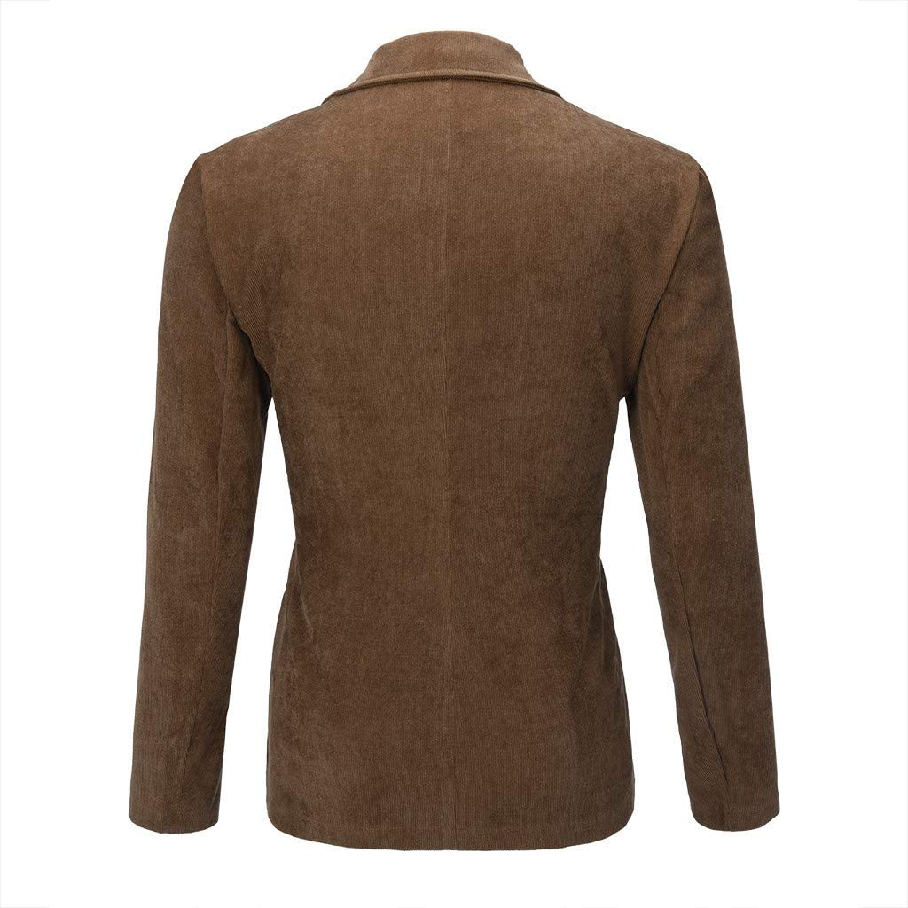 AMhomely Mens Coats and Jackets Winter Sale Prime Mens New England Solid Color Casual Corduroy Single Breasted Suit Plus Size Warm Long Coats and Jackets UK Size S XXXXXXL