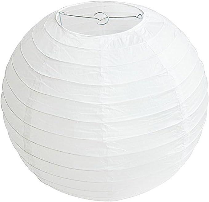 Lukis Lot 3 Pcs Lanterne Rond DIY Manuel Artisanat F/ête en Papier Taille 50cm//40cm Boule Chinoises Lampion Blance pour D/écorations Mariage Maison F/ête Blanc 10cm