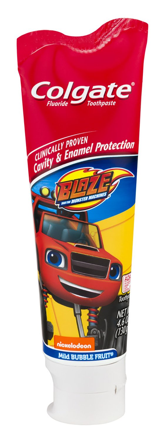 Colgate Blaze And The Monster Machines Toothbrush & Toothpaste Bundle: 2 Items - Powered Toothbrush, Bubble Fruit Toothpaste by Kids Dental Bundle (Image #3)