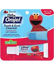 Orajel Baby Elmo Tooth and Gum Cleanser with Finger Brush, Fr...