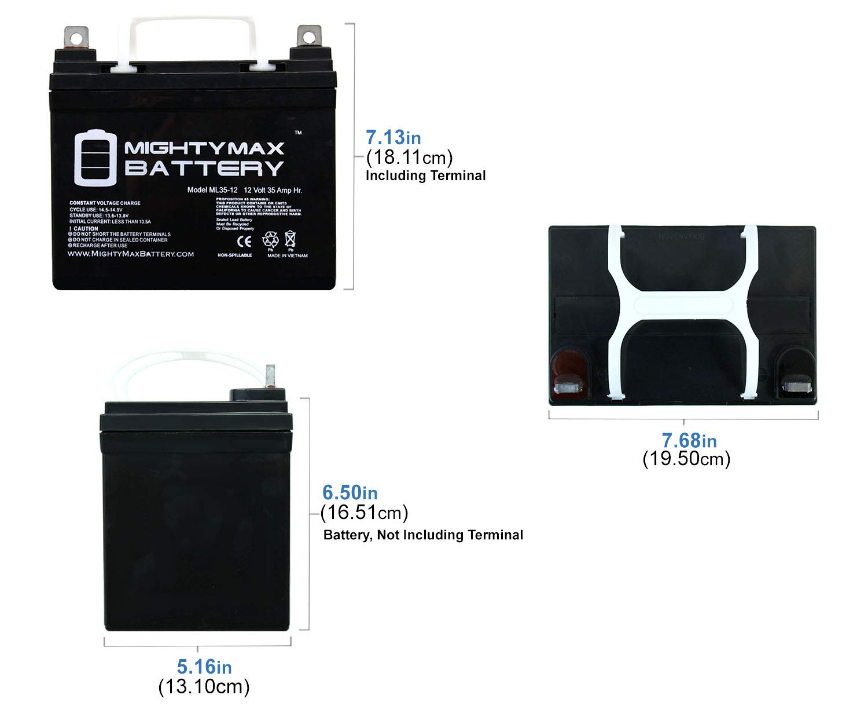 Mighty Max Battery ML35-12 34Ah 12V 35AH U1 Deep Cycle AGM Solar Battery Replaces 33Ah 36Ah Brand Product