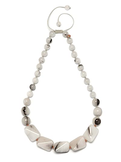 Lola Rose Women Beige Coral Quartz Pendant of Length 70cm 690676 q0OVgz