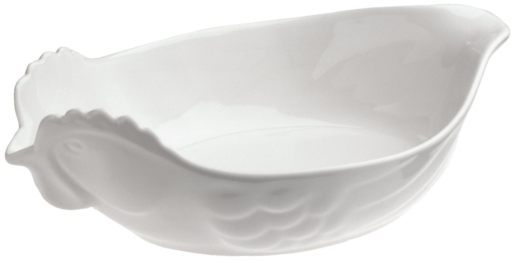 Revol Happy Cuisine White Porcelain 2 Quart Poultry Roasting Dish