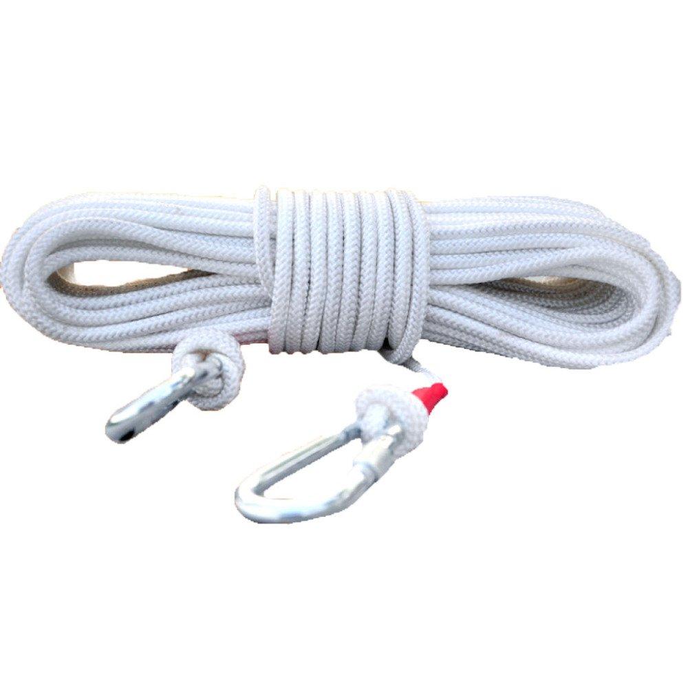 Blanc ERHANG Corde D'Escalade Noyau De Fil D'Acier Ménage évasion Sécurité Corde D'assurance Corde en Nylon Extérieure 45m