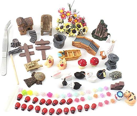 Yardwe 99 Piezas Kit de Miniatura para Jardín Estatuilla de Resina Miniatura de Hadas Adornos de Jardín Miniatura para DIY Decoración de Casa de Muñecas Decoracion para Hadas Jardin: Amazon.es: Hogar