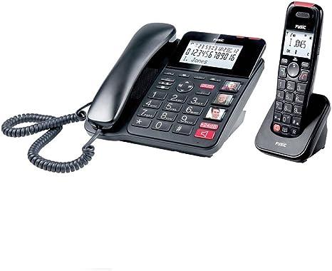Combo teléfono inalámbrico y fijo de teclas grandes: Amazon.es: Electrónica