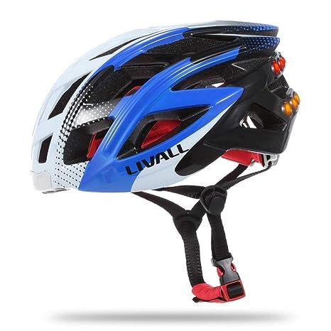 Douerge Casco de Bicicleta Auriculares Bluetooth con ...