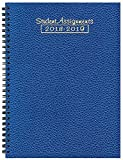 Student Assignment Planner Cobblestone Cover Academic Calendar 7 x 10 School Year (Sapphire)