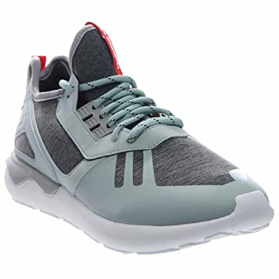 adidas Tubular Runner Weave Mens in Mist Slate/Tomato/White by, 8