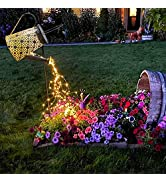 VOOKRY Watering Can with Lights, Large Solar Lanterns Outdoor Hanging Waterproof, Decorative Retr...