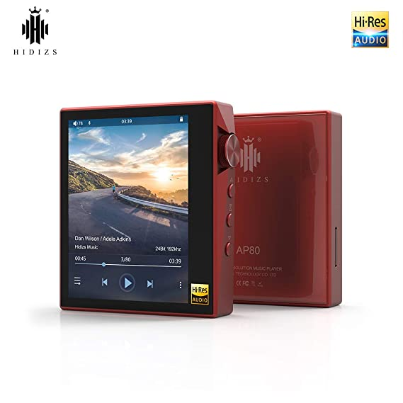 HIDIZS AP80 Hi-Fi Bluetooth MP3 Player, Portable High Resolution Digital  Audio Player with LDAC/aptX/DSD, Lossless Music Player with Full Touch  Screen