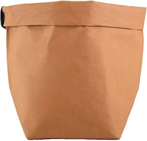 Bulk Sell Available Decorative Washable Kraft Paper Container for Storage,Food,Planting,Gift Wrap and Pet Carrier,Toy Box,Cruelty Free